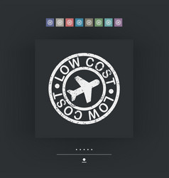 Lowcost airline icon vector