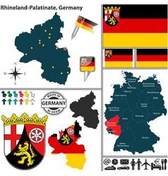 Map of Rhineland Palatinate vector