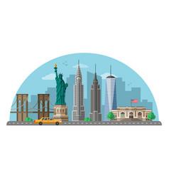 New york city flat vector
