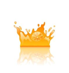 Orange Juicy Splash Crown vector image