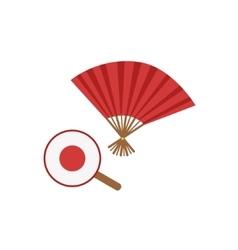 Paper Fans Japanese Culture Symbol vector