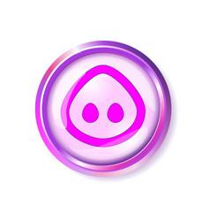 Pink button pig muzzle snout nose vector