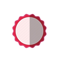 Pink frame badge ornament shadow vector