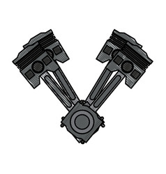 Pistons car icon image vector