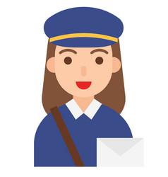 postwoman icon profession and job vector image