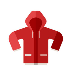 Red sport jacket icon vector