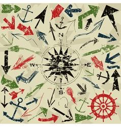 retro of arrows vector image
