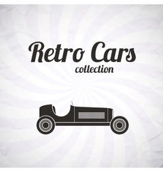 Retro sport racing car vintage collection vector image