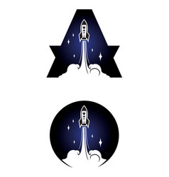 Rocket icon isolated on white vector
