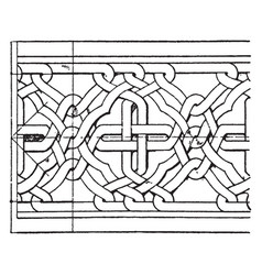 Romanesque interlacement band is an oriental vector