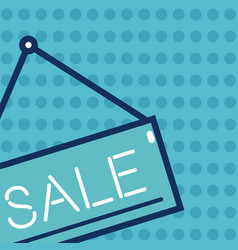 sale blue sign vector image