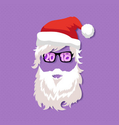 Santa claus wearing sunglasses vector