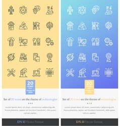 Set icons on the theme of modern technology vector