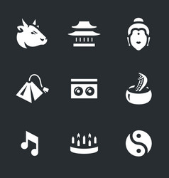 Set of india icons vector
