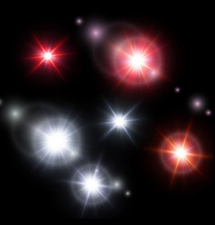 set starlight isolated on dark background vector image