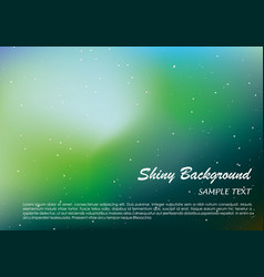 shiny background with blue and green color vector image