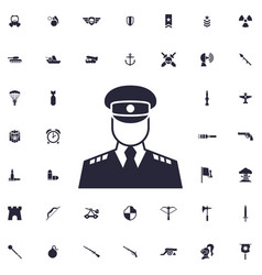 Soldier icon vector