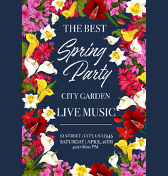 Spring music festival invitation poster vector