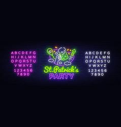 st patricks party design template st vector image