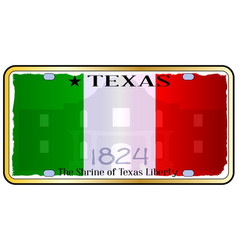 texas alamo license plate vector image