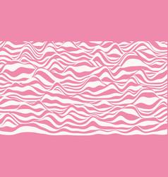 Trendy 3d lollipop stripes distorted backdrop vector