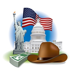 usa landmarks and symbols vector image