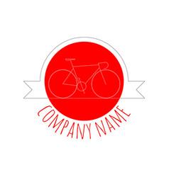 vintage red bicycle logo vector image