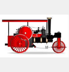 Vintage steam roller vector