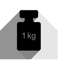 weight simple sign black icon with two vector image