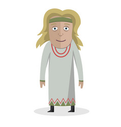 woman in national dress slavs national clothes vector image