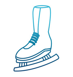 women ice skate vector image