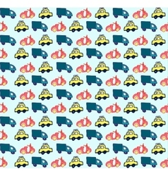Hand drawn doodle style cars seamless pattern vector image vector image
