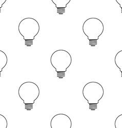 idea symbol seamless pattern vector image vector image