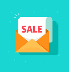 newsletter email sale promotion open vector image vector image