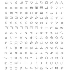 set of universal icons 3 vector image