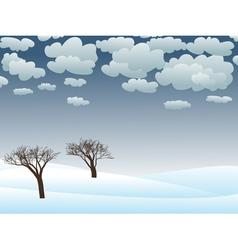 snowy winter landscape vector image vector image