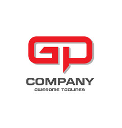 gp letter logo design vector image vector image