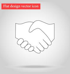 handshake between two people vector image