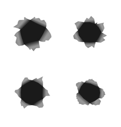 Hole set vector image