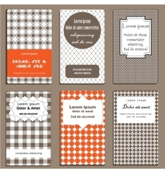Set of cards in geometric style vector image vector image