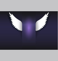 banner with angel wings artificial paper wings vector image vector image