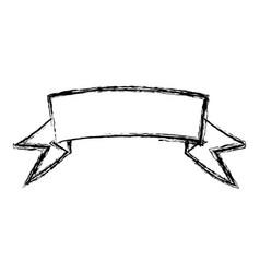 blurred silhouette ribbon label decorative vector image
