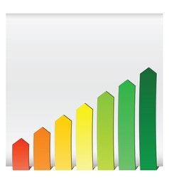 chart graphs growing vector image vector image