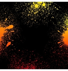 Colorful yellow orange and red grungy gradient vector image vector image