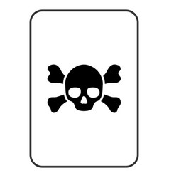 death playing card vector image