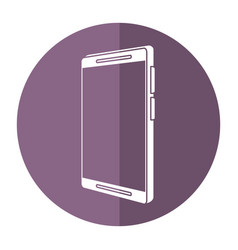 mobile phone technology shadow vector image