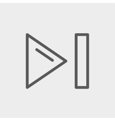 Next button thin line icon vector image