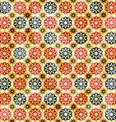 vintage yellow star seamless pattern vector image vector image
