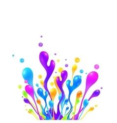Bright rainbow colors paint splash vector image vector image