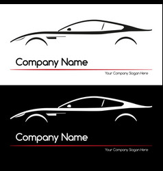 modern executive sports silhouette concept car vector image vector image